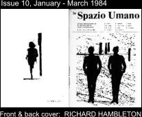 Issue 10, January - March 1984 Front & back cover:  RICHARD HAMBLETON