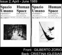 Issue 2, April - June 1989 Front:  GILBERTO ZORIO Back: CRISTINA IGLESIAS