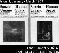 Issue 1, January - March 1989 Front:  JUAN MUÑOZ  Back:  MICHAEL BIBERSTEIN